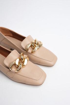 Marjin Kadın Bej Loafer Ayakkabı Modena 4