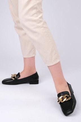 Marjin Kadın Siyah Loafer Ayakkabı Modena 1