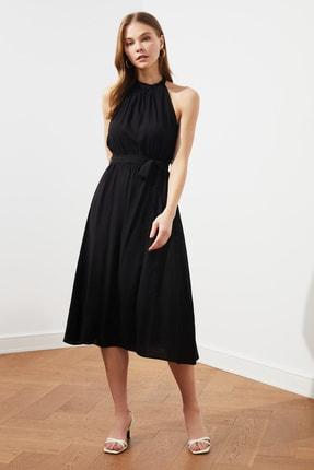 TRENDYOLMİLLA Siyah Kuşaklı Elbise TWOSS19EL0155 1