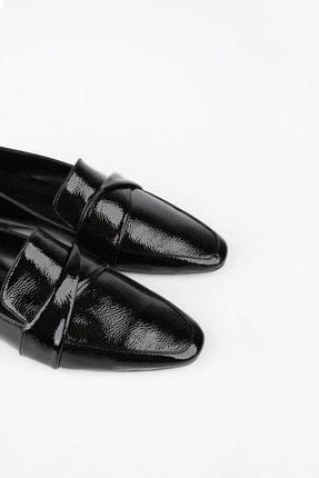 Marjin Kadın Siyah Rugan Loafer Ayakkabı Rezva 1