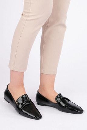 Marjin Kadın Siyah Rugan Loafer Ayakkabı Rezva 3