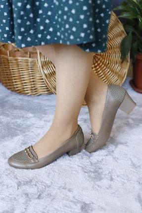 PUNTO Kadın Vizon Renk Yumurta Topuk Ayakkabı 1