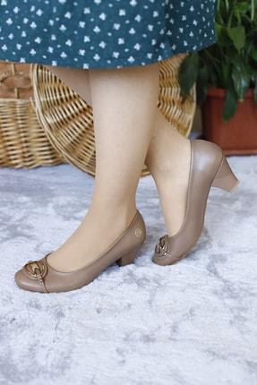 PUNTO Kadın Yumurta Topuk Kısa Gundelık Topuklu Ayakkabı 1