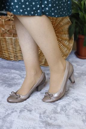 PUNTO Kadın Kahverengi Fiyonklu Kısa Topuklu Ayakkabı 0