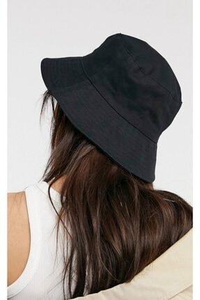 Y-London Kadın Siyah Bucket Şapka 13372 3
