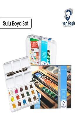 Van Gogh Talens Tablet Suluboya 12+3 Renk +  Sulu Boya Defteri 300 gr 1