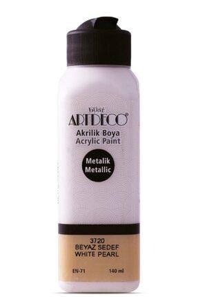 Artdeco Akrilik Boya 140 ml. Beyaz Sedef 71r-3720 0