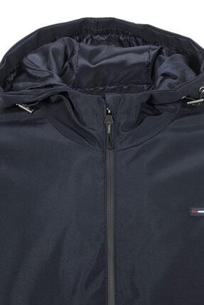 River Club Erkek Lacivert Içi Astarlı Suya Dayanıklı Kapüşonlu Cepli Yağmurluk - Rüzgarlık Ceket 3