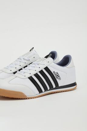 Muggo Erkek Beyaz Bağcıklı Sneaker Mgbarney02 3