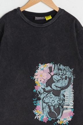 LC Waikiki Kız Çocuk Antrasit Hhy T-Shirt 1