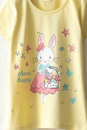 LC Waikiki Kız Çocuk Sarı Frn Pijama Takımı 2