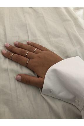 The Y Jewelry Kadın Gümüş Renk 4lü Eklem Yüzük 1
