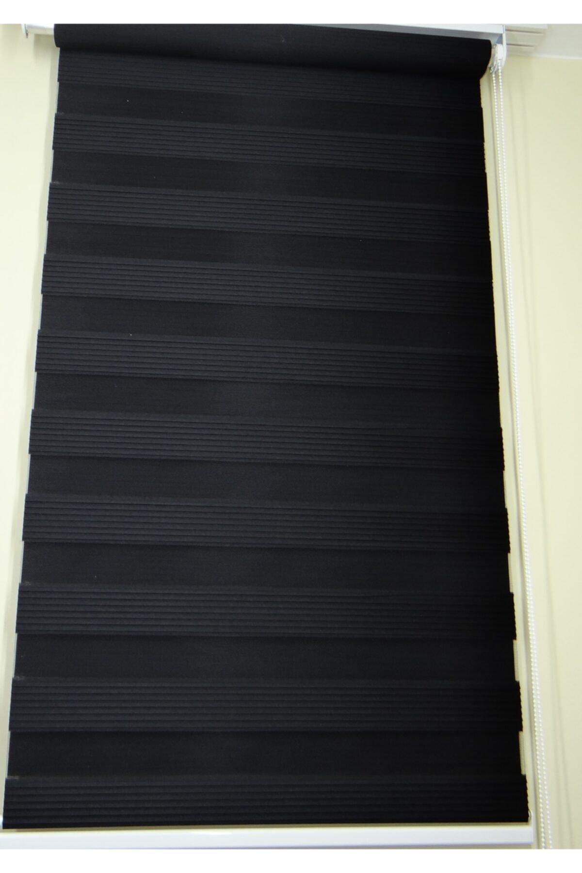 Siyah Zebra Pliseli
