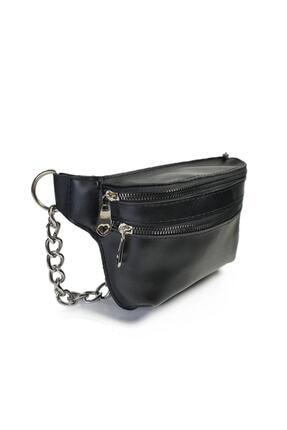 Güce Kadın Zincir Detaylı Askılı Siyah Bel Ve Omuz Çantası Gc007900f 1