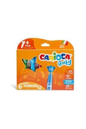 Carioca Jumbo Bebek Yıkanabilir Keçeli Boya Kalemi 6'lı 0