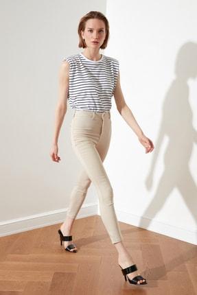 TRENDYOLMİLLA Taş Yüksek Bel Jegging Jeans TWOSS21JE0252 1