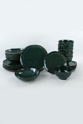 Keramika Zümrüt Yemek Takımı 24 Parça 6 Kişilik 3