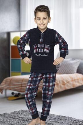Picture of Erkek Çocuk  Lacivert  Polar Uzun Kol Pijama Takımı