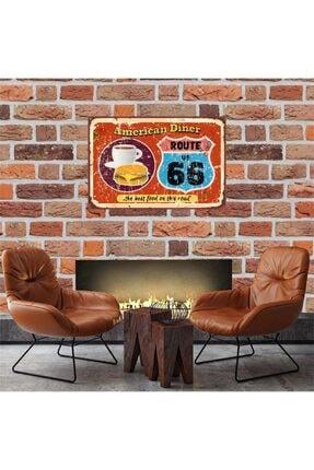 American Diner Retro Ahşap Tablo 30*45 cm Tkfx57550 TKFX57550-XX