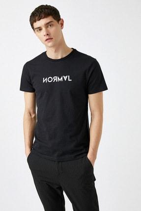 Koton Erkek Siyah T-Shirt 1YAM11427CK 0