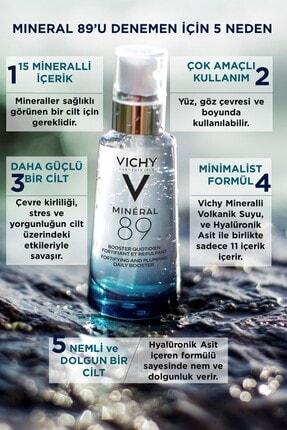 Vichy Mineral 89 Nemlendirici Cilt Serumu Hyalüronik Asit ve Termal Su Cilde Güç ve Nem Veren Bakım 50 ml 4