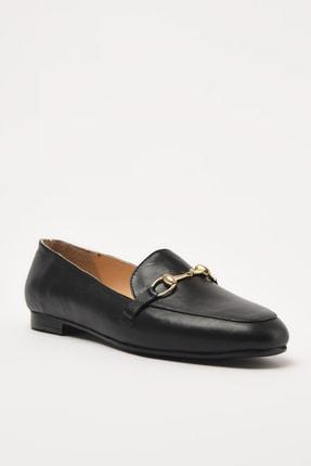 Hotiç Hakiki Deri Siyah Kadın Loafer Ayakkabı 01AYH205150A100 2