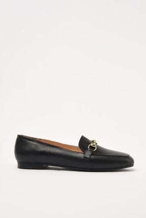 Hotiç Hakiki Deri Siyah Kadın Loafer Ayakkabı 01AYH205150A100 1