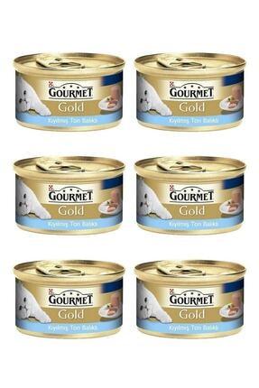 Gourmet Gold Kıyılmış Ton Balıklı Kedi Yaş Maması 85 gr x 6 Adet 0