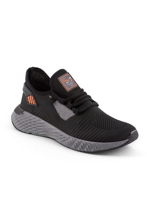 AKX 7 132 Siyah Füme Turuncu Hava Akışlı Erkek Spor Ayakkabı 0