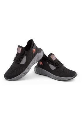 AKX 7 132 Siyah Füme Turuncu Hava Akışlı Erkek Spor Ayakkabı 1