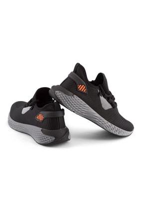 AKX 7 132 Siyah Füme Turuncu Hava Akışlı Erkek Spor Ayakkabı 2