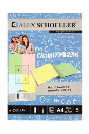 Schoellershammer Renkli Bloknot A4 60 Yp. Çizgili 0