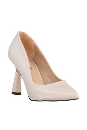 Soho Exclusive Bej Kadın Klasik Topuklu Ayakkabı 15783 4