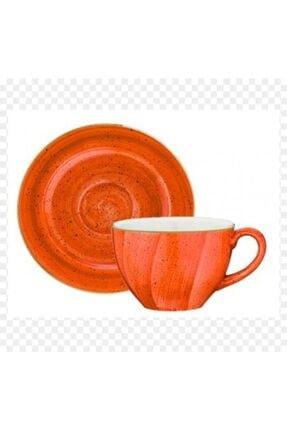 Bonna Porselen Terracota Rita Çay Fincan ve Tabağı 0