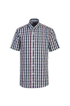 Kiğılı Kısa Kol Regular Fit Ekose Gömlek 0