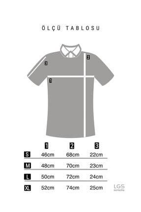 LAGOS Erkek Toprak/ekru Slim Fit Geometrik Desenli Polo Yaka Pamuklu Triko Tişört 4