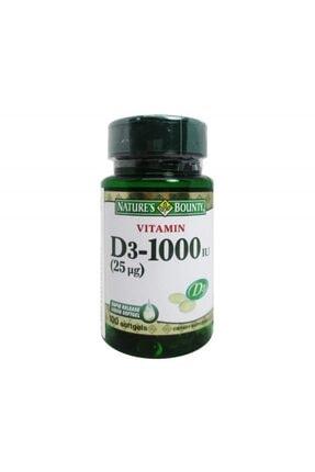 Natures Bounty Vitamin D3 1000 Iu 100 Kapsül 0