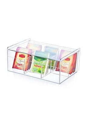 Eksprespazar Çay Kutusu 6bölmeli Kapaklı Poşet Bitki Çayı Saklama Kabı Box20200001 1