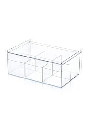 Eksprespazar Çay Kutusu 6bölmeli Kapaklı Poşet Bitki Çayı Saklama Kabı Box20200001 2