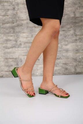 Lotus Kadın Topuklu Yeşil Lotus Topuklu