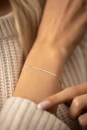 COSİBELLA Kadın Tilki Kuyruğu Model Gümüş Renk Italyan Bileklik 0