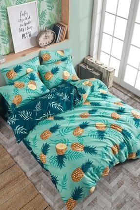 Fushia Pineapple % 100 Pamuk Çift Kişilik Nevresim Seti 0