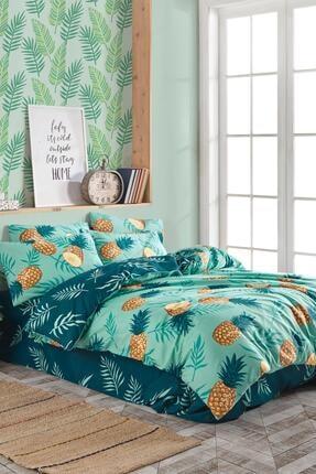 Fushia Pineapple % 100 Pamuk Çift Kişilik Nevresim Seti 2