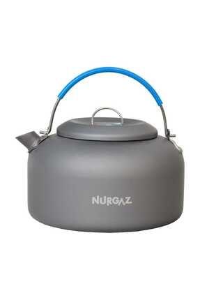 Nurgaz Antrasit & Mavi Klasik Çaydanlık 5232710 0