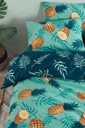 Fushia Pineapple %100 Pamuk Tek Kişilik Nevresim Takımı 4