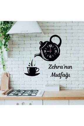 Aslan Lazer Tasarım Zehra'nın Ahşap Kisiye Özel Çaydanlik Tasarimli Ahsap Mutfak Saati 0