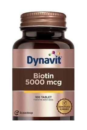 Dynavit Biotin 5000 mcg 100 Tablet 0