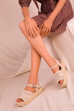Soho Exclusive Bej Kadın Sandalet 15994 1