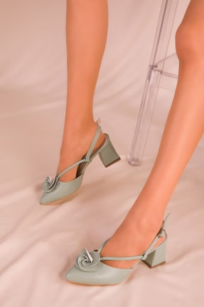 Soho Exclusive Mint Yeşil Kadın Klasik Topuklu Ayakkabı 15991 2