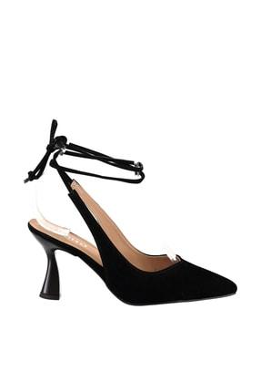 Soho Exclusive Siyah Süet Kadın Klasik Topuklu Ayakkabı 15776 3